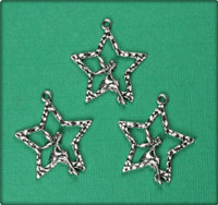 Pixie on a Star - Antique Silver