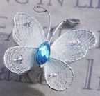 "Butterfly - 1"" Light Blue"