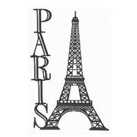 Paris with Eiffel Tower laser die cut
