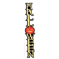 Halloween Laser Cut Vertical Title Strip - 3 Colors!