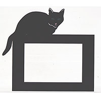 Cat Halloween Frame with opening for 4x6 photo