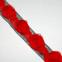Red Rose Ribbon 1.5""