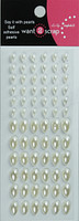 72 Count - Teardrop Bling - White Pearls