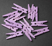 Baby Clothes Pins (12 Pack) - Lavender