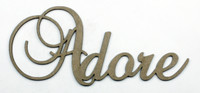 Adore - Fancy Chipboard Word