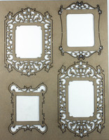 Vintage Fancy Frames - Chipboard Embellishments