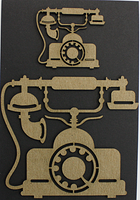 Vintage Phone - Chipboard