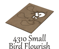 Small Bird Flourish  - Chipboard