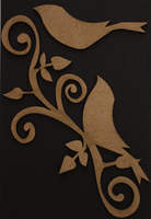Large Bird Flourish - Chipboard