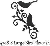 Large Bird Flourish - Silhouette