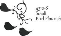 Small Bird Flourish - Silhouette