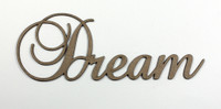 Dream - Fancy Chipboard Word