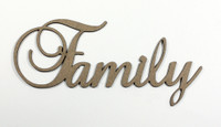 Family - Fancy Chipboard Words