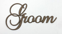 Groom - Fancy Chipboard Word