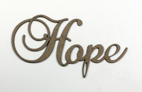 Hope - Fancy Chipboard Word