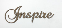 Inspire - Fancy Chipboard Word