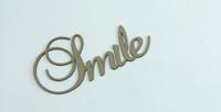 SMILE - Fancy Chipboard Word