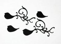 Small Bird Flourish Silhouette - Card Sized (2 Pack)