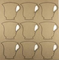 Teacups - Chipboard Embellishments