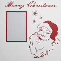Merry Christmas with Santa - 12x12 Overlay