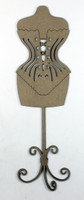 Dress Form Corset - Chipboard Embellishment