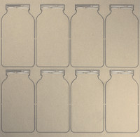 Mason Jars - Chipboard Embellishments