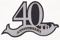 40th Anniversary laser die cut in Silver