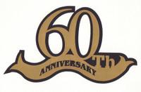 60th Anniversary laser die cut in Gold Paper