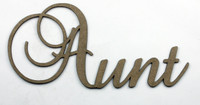 Aunt - Fancy Chipboard Word