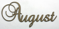 August - Fancy Chipboard Word
