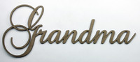 Grandma - Fancy Chipboard Word