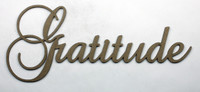 Gratitude - Fancy Chipboard Word