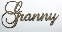 Granny - Fancy Chipboard Word