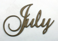 July - Fancy Chipboard Word