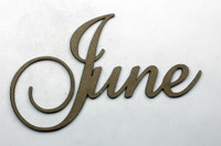 June - Fancy Chipboard Word