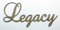 Legacy - Fancy Chipboard Word