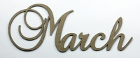 March - Fancy Chipboard Word