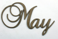 May - Fancy Chipboard Word