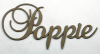 POPPIE - Fancy Chipboard Word