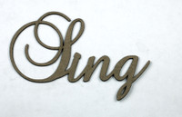 SING - Fancy Chipboard Word