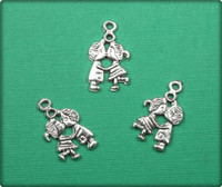 First Kiss Charm - Antique Silver