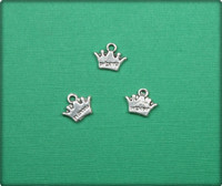 Princess Crown Charm - Antique Silver
