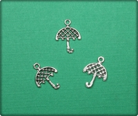 Umbrella Charm - Antique Silver
