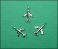 Airplane Charm - Antique Silver