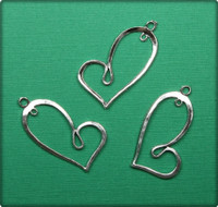 Heart Stylish Charm - Antique Silver