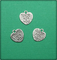 Heart Made for You Charm - Antique Silver