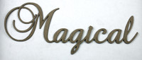 Magical - Fancy Chipboard Word
