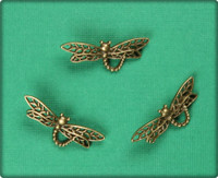 Dragon Fly Charm- Antique Brass