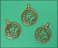 Pocket Watch Charm - Antique Brass