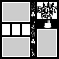 Birthday Party - 12x12 Overlay